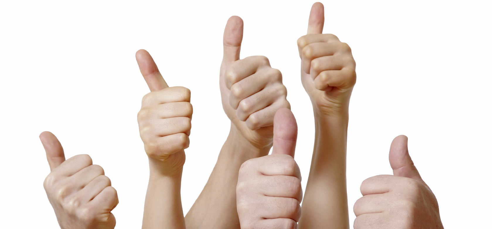 A group of thumbs up